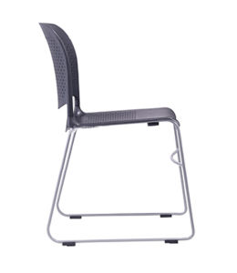 Black White Conference Stacking Plastic Office Chair for Hall pictures & photos