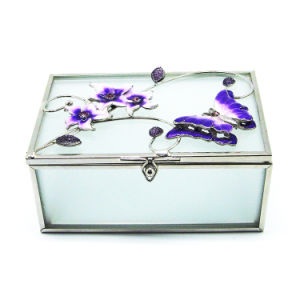 High Quality Cheap Folding Glass Jewelry Box Hx-6372 pictures & photos