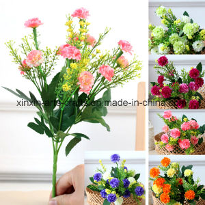 Cheap Artificial Ball Chrysanthemum Flower Bouquet with 5branches&15heads pictures & photos