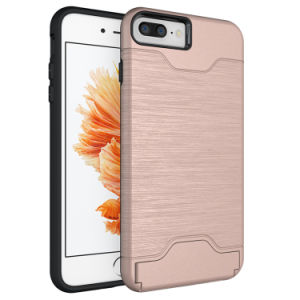 Card Slot Holder PC Crystal Hard Case for iPhone 7 6 Plus Samsung Galaxy S7 S8 LG G6 Moto G6 pictures & photos
