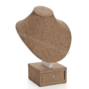 Linen Material Bust Display Stand with Drawer pictures & photos