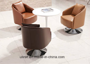 Round Metal Base Single Office Sofa Couch Reception Furniture (UL-S323) pictures & photos