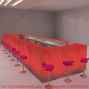 Modern Restaurant Design Project Wine Restaurant Furniture Solid Surface Dinks Bar Restaurant Counter Set pictures & photos