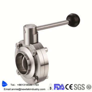 Hygienic SMS Butterfly Valve with Stainless Steel Multi Position Handle pictures & photos