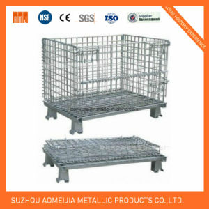 Storage Cage/Wire Mesh Container/Widely Used in Warehouse, Supermarket, etc pictures & photos