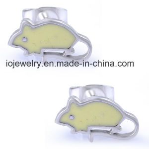 Stainless Steel Enamel Mouse Kids Earring pictures & photos