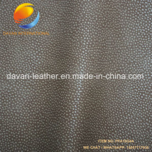 Synthetic Leather Leechi Grain Good Hand Feeling for Handbag Shoes pictures & photos