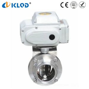 Sanitary Stainless Steel Butterfly Valves with Electric Actuator pictures & photos