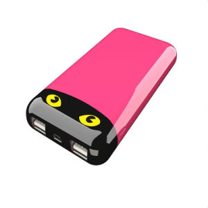 10000mAh Portable Power Bank with Twinkling Cat Eyes Fashion Mobile Phone Charger