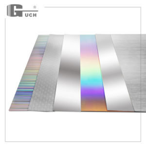 Silver Hairline with Flourescent/Holographic Laser Printer Card pictures & photos