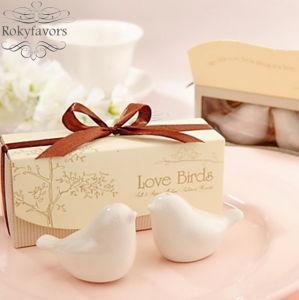 Love Birds Ceramic Salt and Pepper Shaker Favors