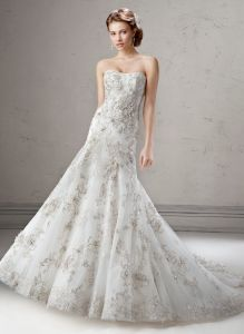 Sparkling Beaded Tulle Wedding Bridal Dress with Trumpet pictures & photos