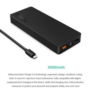 Quick Charger 2.0 10000mAh Portable Charger Power Bank pictures & photos