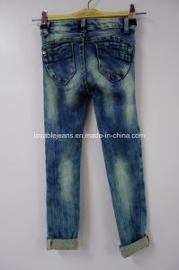 Crop Jeans for Girls (IBG25-2110) pictures & photos