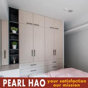 Simple PVC Melamine Openning Door Wardrobe pictures & photos