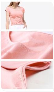 Fashion Plain Cotton T-Shirt with Different Colors pictures & photos