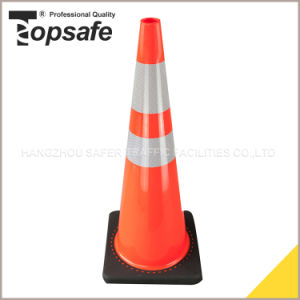 90cm (36INCH) Black Base Interlock PVC Traffic Cone pictures & photos