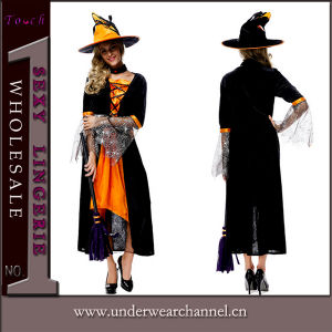 Sexy Adult Party Halloween Witch Cosplay Costume for Women Girls (TLZQ1516) pictures & photos