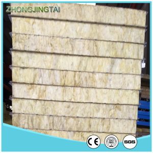 Fireproof Insulation Rock Wool Sandwich Panel for Wall and Roofing pictures & photos