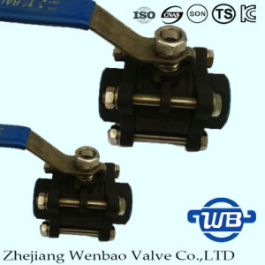 ASTM Wcb Carbon Steel 3PC Female Threaded Ball Valve 1000wog pictures & photos