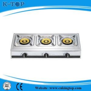 Triple Cooktop Gas Stove S/S Panel pictures & photos