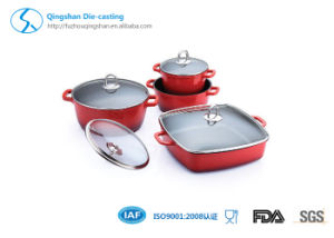 Die Casting Aluminum Non Stick Cookware Ceramic Casserole Set pictures & photos