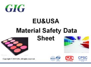 Safety Data Sheet MSDS/SDS Test Report Service in China pictures & photos