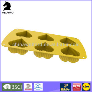 BSCI Audit Cake Bake Tray FDA Approved Silicone Cake Mould pictures & photos