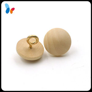 Big Size Natural Ball Wood Shank Button pictures & photos