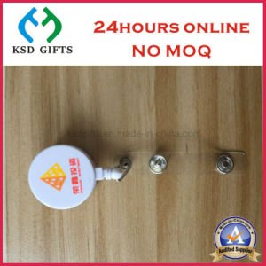 Epoxy Logo Hot Sell Cheap Plastic Badge Holder with PVC Clip pictures & photos