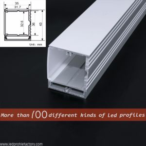 Pn4127 LED Linear Light Aluminium Profile/Channel/Extrusion for LED Strip pictures & photos