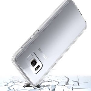 Hard Clear Back Cover with Flexible TPU Bumpers Slim Fit Phone Cover Case for Samsung Galaxy S8 pictures & photos