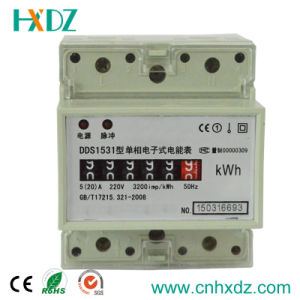 Single Phase DIN Rail Modular Energy Meter Kwh pictures & photos