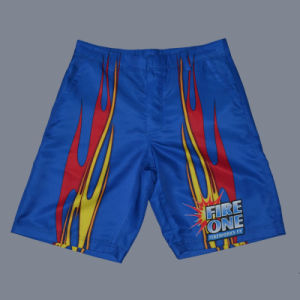 Blue Board Shorts with Back Pocket