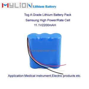 Hight Quality Lithium Battery for Breathing Machine (CPAP) 11.1V2.2ah