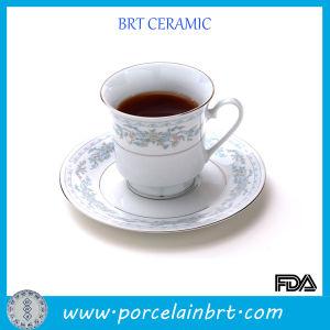 Fancy Ceramic Tea Mug with Gold Rim pictures & photos