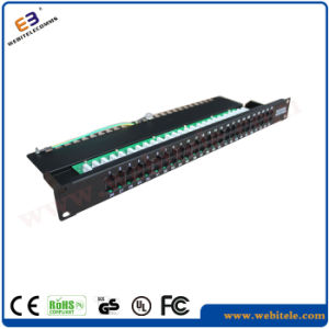 FTP CAT6 Patch Panel 24 Port 90 Degree pictures & photos