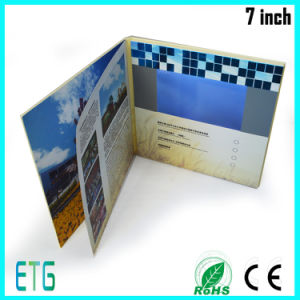 Hardcover 7 Inch Invitation LCD Video Greeting Card pictures & photos