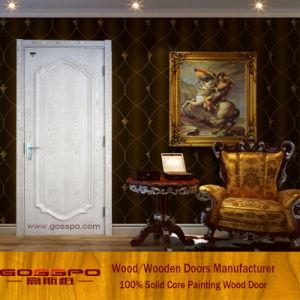 White Color MDF Security Interior Room Door (GSP8-042) pictures & photos