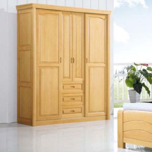 Sliding Door Beech Wood Wardrobe with Good Quality (M-X1079) pictures & photos