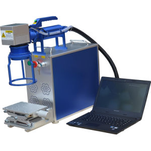 Best Quality Economic 10W Portable Fiber Laser Marking Machine for Metal pictures & photos