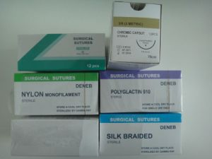 Medical Supply, Disposable Surgical Suture Thread with Needles pictures & photos