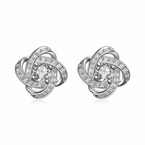 Flower 925 Sterling Silver Stud Earrings with CZ pictures & photos
