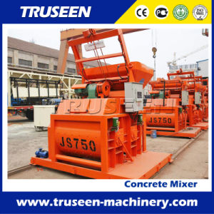 Js750 Double-Horizontal-Shaft Forced Type Concrete Mixer pictures & photos