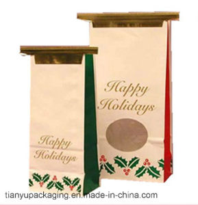 Food Grade Kraft Paper Bag with Tin-Tie Handle pictures & photos