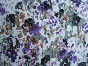 Print Stretch Polyester Jacquard Knit Fabric pictures & photos