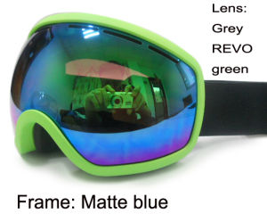 Grey Revo Green Snow Boarding Goggles (SNOW-2710T) pictures & photos
