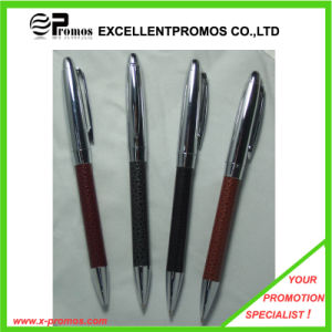 Promotional Heavy Metal Pen with Leather Barrel for Gift (EP-P7311) pictures & photos