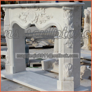White Marble French Fireplace Mantel/Surround Mf1709 pictures & photos