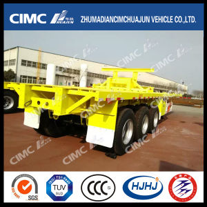 40FT Flatbed Semi Trailer with Rear Part Cut (SKD FORM) pictures & photos